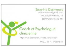 Séverine Desmarets, Psychologue et coach