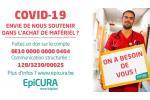 Covid-19: EpiCURA lance un appel au dons pour soutenir le personnel hospitalier