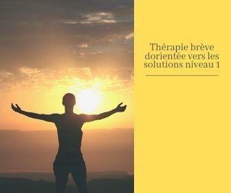 Thérapie brève orientée solutions - niveau 1