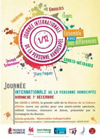 Journée internationale de la personne handicapée - Maison de la Culture d'Arlon