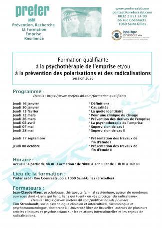 Formation qualifiante à la psychothérapie de l'emprise