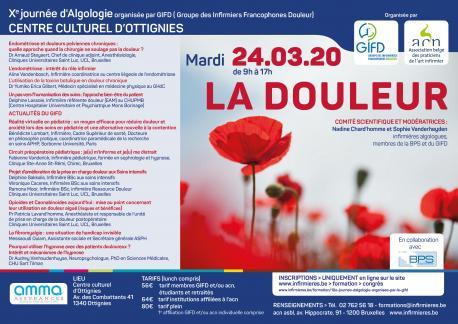 10e journée DOULEUR organisée par GIFD (Groupe des Infirmiers Francophones Douleur) et l'acn