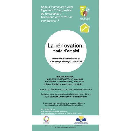 Réunions d'information : la rénovation: mode d'emploi