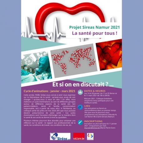 Projet Sireas Namur 2021 : La santé pour tous !