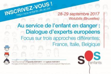 Au service de l'enfant en danger: dialogue d'experts européens