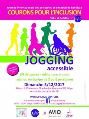 """Jogging""""Courons pour l'inclusion Avec Le Collectif 03/12"""""""