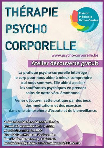 """Ateliers découverte sur la """"Pratique psycho-corporelle"""""""