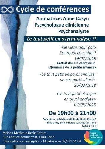 Conférence-débat dans le cadre du cycle ''Le tout petit en psychanalyse ?!''