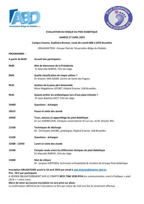 Symposium sur l'évaluation du risque du pied diabétique