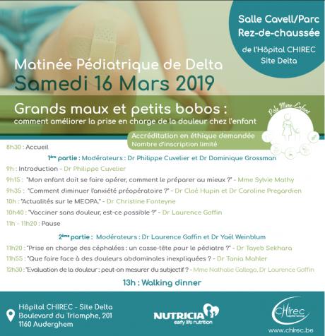 """Symposium Matinée Pédiatrique : """" Grands maux et petits bobos : comment améliorer la prise en charge de la douleur chez l'enfant."""""""
