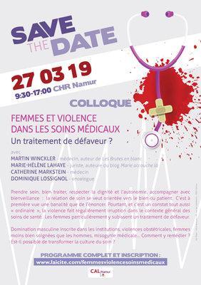 Colloque - Femmes et violences dans les soins médicaux
