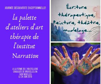 La palette d'ateliers d'art thérapie de l'Institut Narration