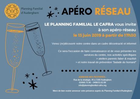Apéro-réseau au Centre de Planning Familial Auderghem