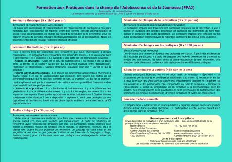 Formation aux Pratiques dans le champ de l'Adolescence et de la Jeunesse (FPAJ)