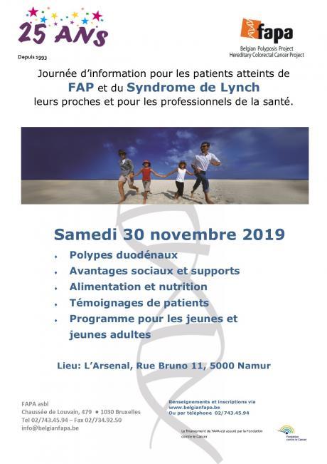 Journée d'information pour les patients atteints de FAP et du syndrome de Lynch