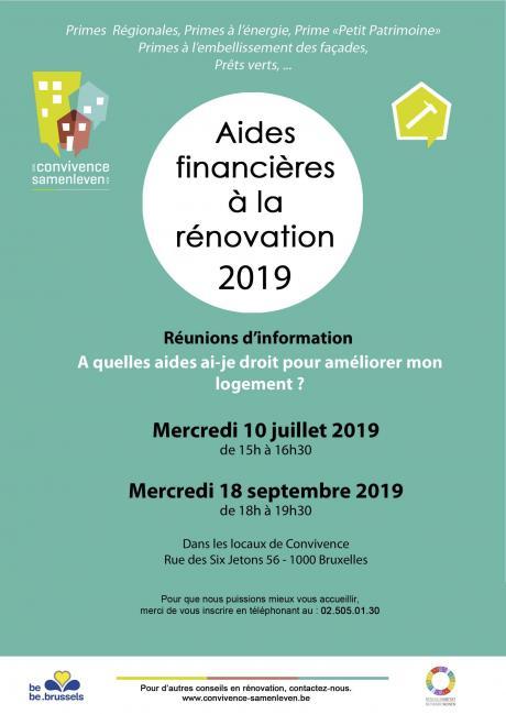 Séance d'information sur les aides financières à la rénovation