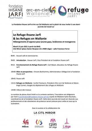 Le Refuge Ihsane Jarfi - demi-journée de travail avec Arc-en-Ciel Wallonie