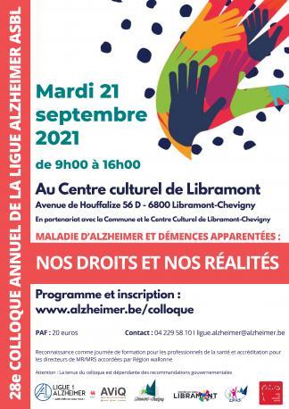 28e colloque annuel de la Ligue Alzheimer : Nos droits et nos réalités