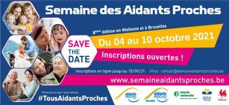 La Semaine des Aidants Proches 2021 - 8éme édition en Wallonie et à Bruxelles
